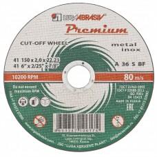 Круг отрезной по металлу и нержавеющей стали, 150 х 2,0 х 22 мм, Премиум