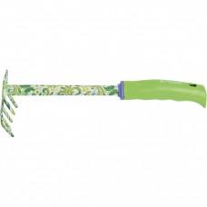 Грабли 5 - зубые, 85 х 310 мм, стальные, пластиковая рукоятка, Flower Green, Palisad