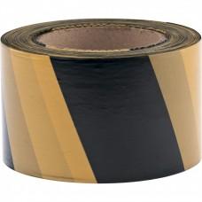 Лента сигнальная, 50 мм х 200 м, черно-желтая Россия Сибртех
