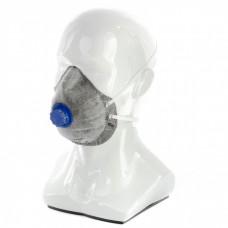 Полумаска фильтрующая (респиратор), c угольным слоем, с клапаном выдоха, FFP1 NR Россия Сибртех