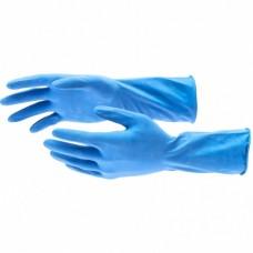 Перчатки хозяйственные латексные c хлопковым напылением, S, Elfe
