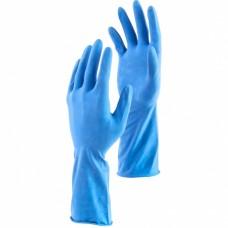 Перчатки хозяйственные латексные c двойным хлопковым напылением, L, Сибртех