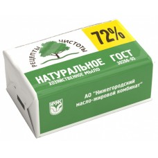 Мыло хозяйственное, 72%, 200 гр, НМЖК Россия