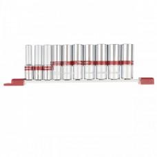 Набор удлиненных торцевых головок 3/8, шестигранные, CrV, 10 шт., 8-19 мм Matrix