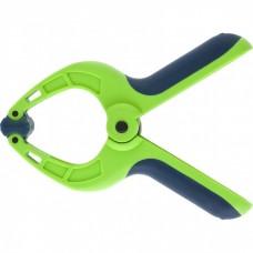 Струбцина клещеобразная 1-1/4, пластиковый корпус, двухкомпонентные рукоятки, усиленная пружина, 33 мм Сибртех