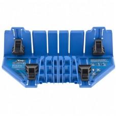 Стусло пластиковое 350 х 100 х 80 мм, 5 углов для запила, прижимные фиксаторы с съемными угловыми накладками, БАРC