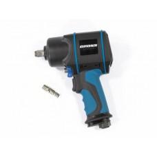 Гайковерт пневматический ударный G1285, 1/2, Twin Hammer, 1220Нм, 6500 об/мин, композитный Gross