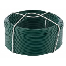 Проволока с ПВХ покрытием, зеленая 1,2 мм, длина 50 м Сибртех