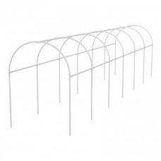 Каркас парника пластиковый 500 х 110 х 120 см, дуга D 20 мм, белый Palisad