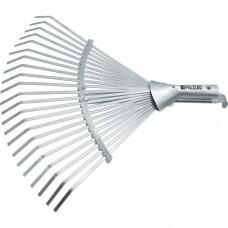 Грабли веерные стальные, 300 - 480 мм, 22 плоских зуба, оцинкованные,раздвижные, без черенка, Palisad