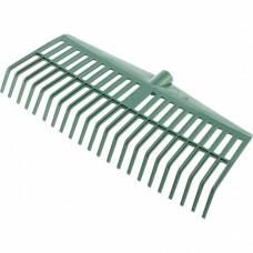 Грабли веерные пластиковые, 420 мм, 22 плоских зуба, без черенка, Россия Сибртех
