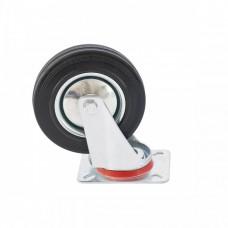 Колесо поворотное D 160 мм, крепление платформенное Сибртех