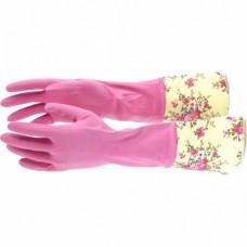 Перчатки хозяйственные латексные с манжетой, S, Elfe