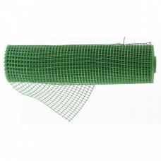 Решетка заборная в рулоне, облегченная, 0,8 х 20 м, ячейка 17 х 14 мм, пластиковая, зеленая, Россия