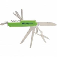 Нож многофункциональный, компактный размер, 15 функций, 90 мм Сибртех