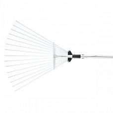 Грабли веерные стальные, 155 - 520 х 1200 - 1550 мм, 15 зубьев, раздвижные, стальной черенок, Palisad