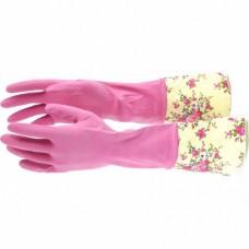 Перчатки хозяйственные латексные с манжетой, M, Elfe