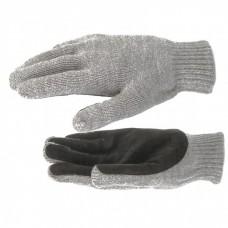 Перчатка двойная полушерстяная, спилковый наладонник, 150 г Россия Сибртех