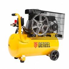 Компрессор воздушный BCI2300/50, ременный привод, 2,3 кВт, 50 литров, 400 л/мин Denzel