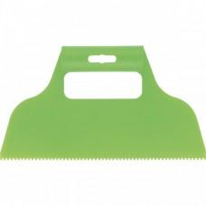 Шпатель для клея, пластмассовый, зубчатый 2 х 2 мм Сибртех