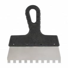 Шпатель из нержавеющей стали, 150 мм, зуб 8 х 8 мм, пластмассовая ручка Sparta