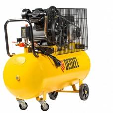Компрессор воздушный BCV2200/100, ременный привод, 2,2 кВт, 100 литров, 370 л/мин Denzel