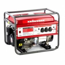 Генератор бензиновый LK 6500, 5,5 кВт, 230 В, бак 25 л, ручной старт Kronwerk