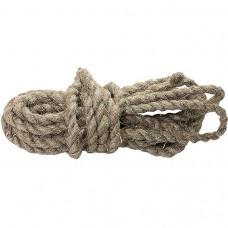 Веревка льнопеньковая, D 10 мм, L 10 м, крученая Россия Сибртех