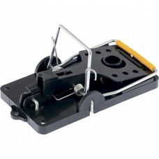 Мышеловка-крысоловка пластиковая открытая, металлический механизм, большая, 140 х 75 мм Сибртех