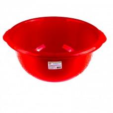 Таз пластмассовый круглый 18 л, красный, Россия Elfe