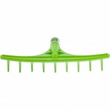 Грабли пластиковые, 475 мм, 9 круглых зубьев, сенные, без черенка, Россия, Сибртех