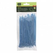Хомуты, 150 x 2,5 мм, пластиковые, синие, 100 шт Сибртех