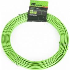 Проволока для подвязки, стальная в ПВХ (зеленый) 25 м, внутр. 1,6 мм / внеш. 3 мм Сибртех