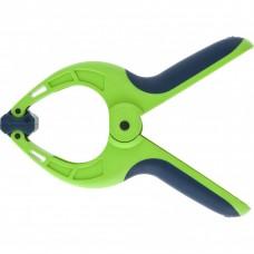 Струбцина клещеобразная 2-3/4, пластиковый корпус, двухкомпонентные рукоятки, усиленная пружина, 70 мм Сибртех