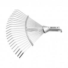 Грабли веерные стальные, 280 - 450 мм, 22 плоских зуба, оцинкованные,раздвижные, без черенка, Palisad