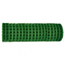 Решетка заборная в рулоне, 1,6 х 25 м, ячейка 22 х 22 мм, пластиковая, зеленая, Россия