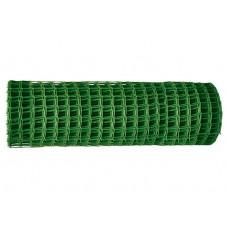 Решетка заборная в рулоне, 1 х 20 м, ячейка 15 х 15 мм, пластиковая, зеленая, Россия