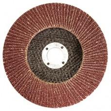 Круг лепестковый торцевой КЛТ-1, зернистость Р 80(16Н), 125 х 22,2 мм,