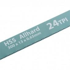 Полотна для ножовки по металлу, 300 мм, 24 TPI, HSS, 2 шт Gross