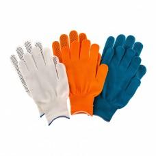 Перчатки в наборе, цвета: оранжевые, синие, белые, ПВХ точка, XL, Россия Palisad