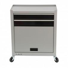 Шкаф для инструмента двухсекционный, 600 х 260 х 340 мм, 616 х 330 х 658 мм, на колесах, 10 ящиков Matrix