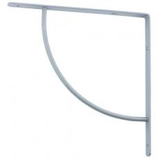 Кронштейн арочный, выгнутый, 250 х 250 х 20 мм, серый Сибртех
