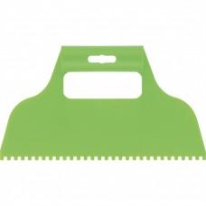 Шпатель для клея, пластмассовый, зубчатый 4 х 4 мм Сибртех