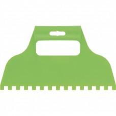 Шпатель для клея, пластмассовый, зубчатый 8 х 8 мм Сибртех