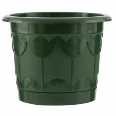 Горшок Тюльпан с поддоном, зеленый, 6 л Palisad