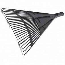 Грабли веерные пластиковые, 600 мм, 24 плоских зуба, без черенка, Россия, Сибртех
