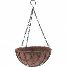 Кашпо подвесное с вкладышем из коковиты, полукруглое D 30 см Palisad