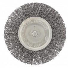Щетка для дрели 100 мм, плоская со шпилькой, витая проволока Сибртех