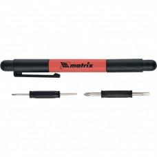 Ручка-отвертка с комбинированными битами для точных работ, PH0, PH000; SL 1.5, SL3 CrV Matrix